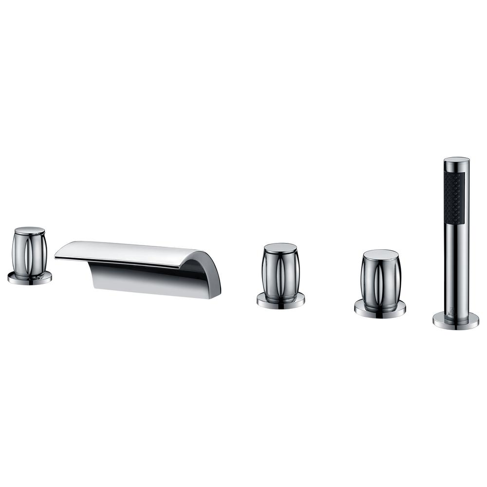Della 3-Handle Deck-Mount Roman Tub Faucet