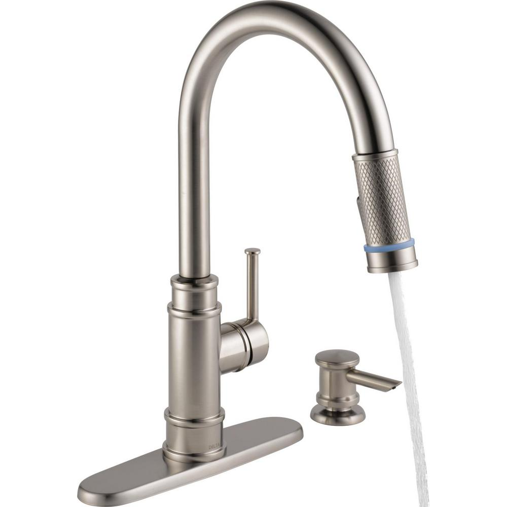 Delta Allentown Single Handle Pull Down Sprayer Kitchen Faucet With