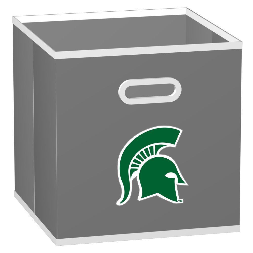 MyOwnersBox College STOREITS Michigan State University 10-1/2 in. x 10-1/2 in. x 11 in. Grey Fabric Storage Drawer