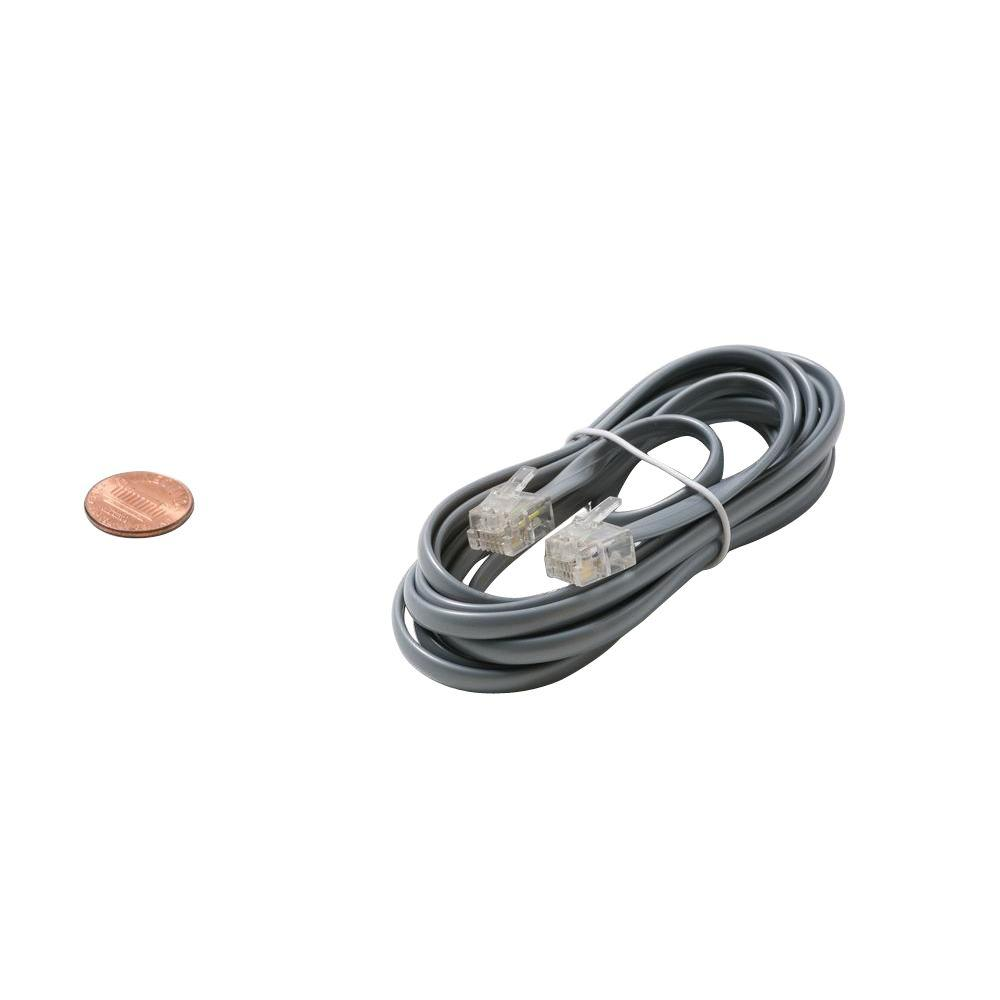 25 ft. 4C Modular Line Cord - Silver