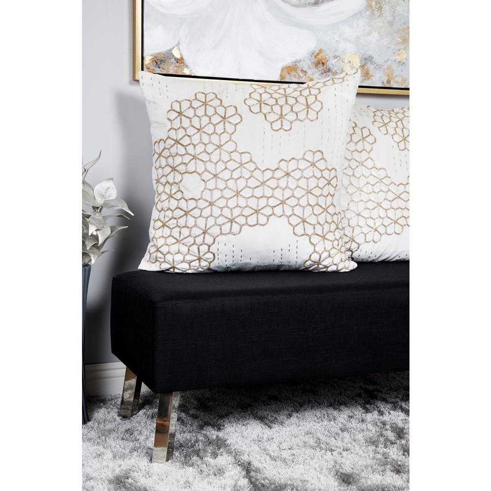 Magnificent Litton Lane 26 In X 26 In Beaded Honeycomb Patterned Inzonedesignstudio Interior Chair Design Inzonedesignstudiocom