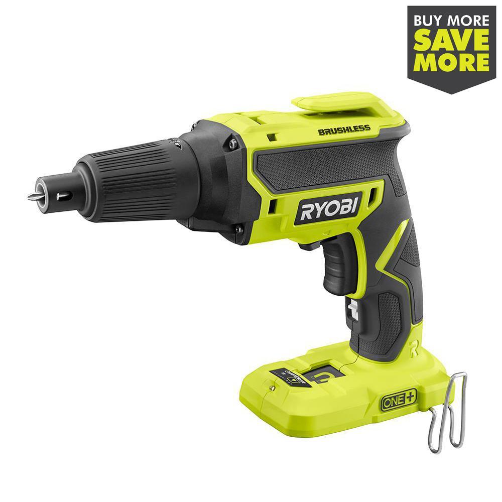 RYOBI 18-Volt ONE+ Cordless Brushless Drywall Screw Gun (Tool Only)