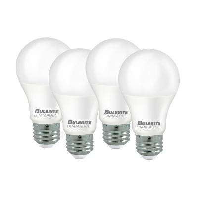 60-Watt Equivalent Light Frost A19 Dimmable UL Enclosed LED Light Bulb Cool White (4-Pack)