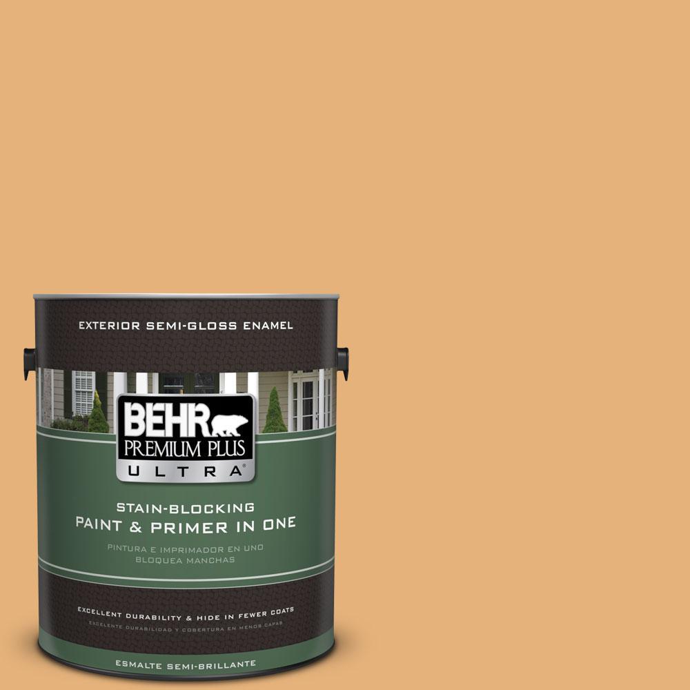 BEHR Premium Plus Ultra 1-gal. #300D-4 High Plateau Semi-Gloss Enamel Exterior Paint