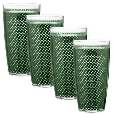 Fishnet 22 oz. Hunter Green Insulated Drinkware (Set of 4)