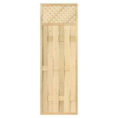 2-1/2 in. x 24 in. x 6 ft. Wood Framed Lattice Top with Lattice Screen