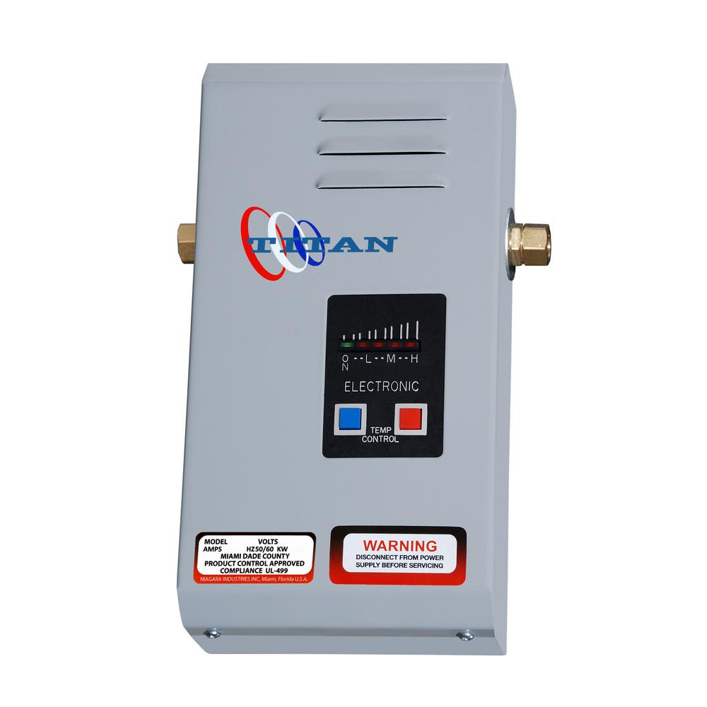 Titan Scr 2 4 2 Kw 2 Gpm Point Of Use Electric Tankless Water Heater N 42 The Home Depot