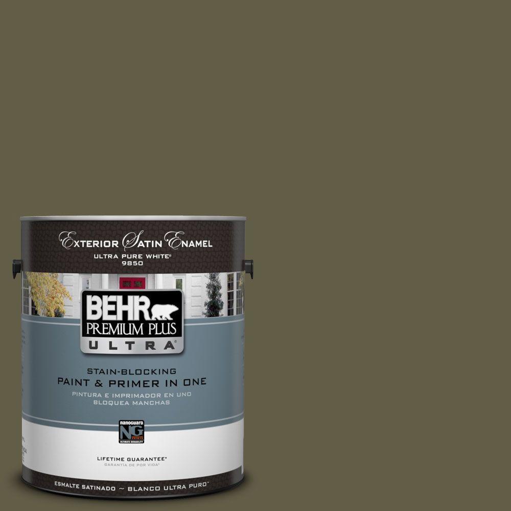 BEHR Premium Plus Ultra 1-Gal. #UL190-23 Alligator Skin Satin Enamel Exterior Paint