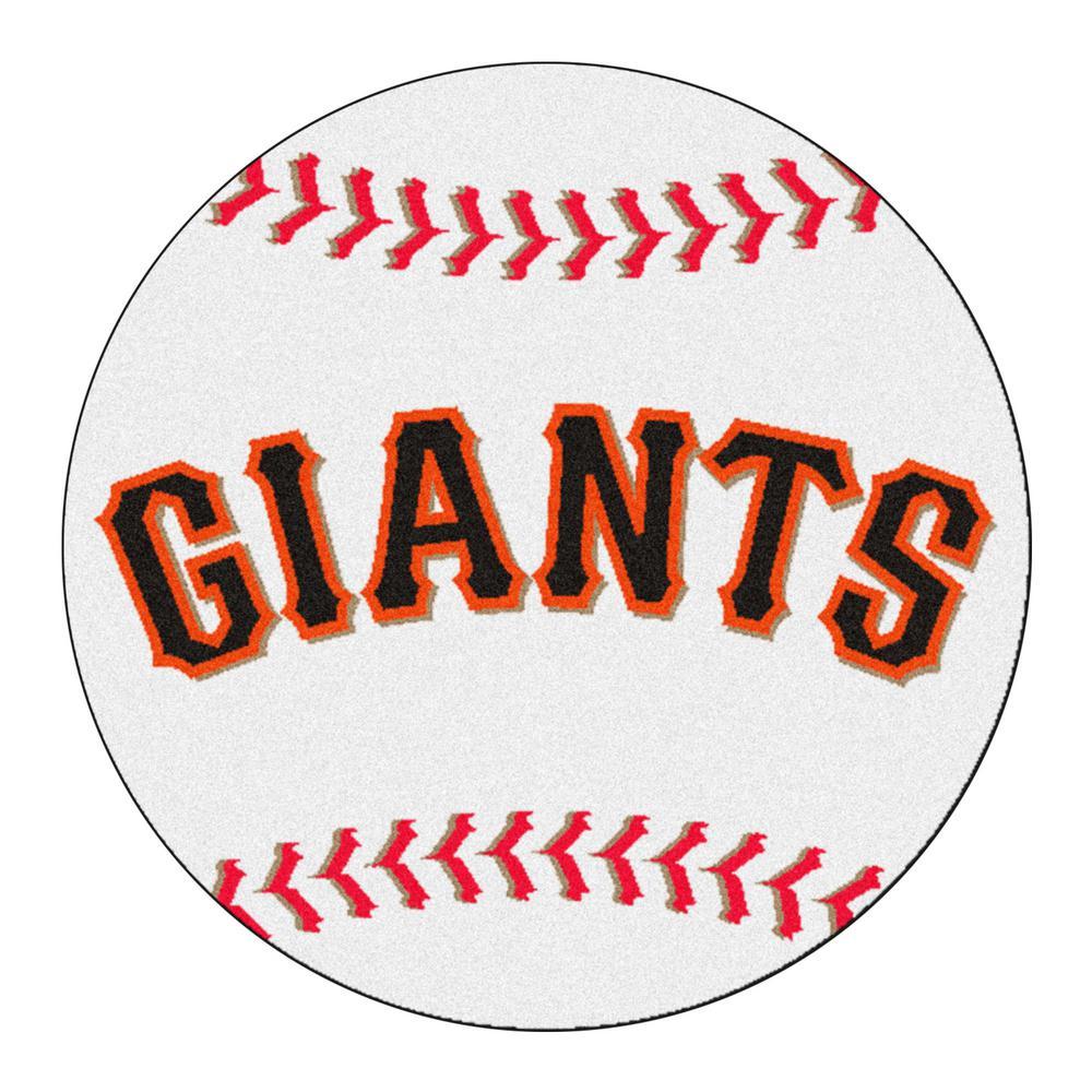 FANMATS MLB San Francisco Giants White 2 Ft. X 2 Ft. Round