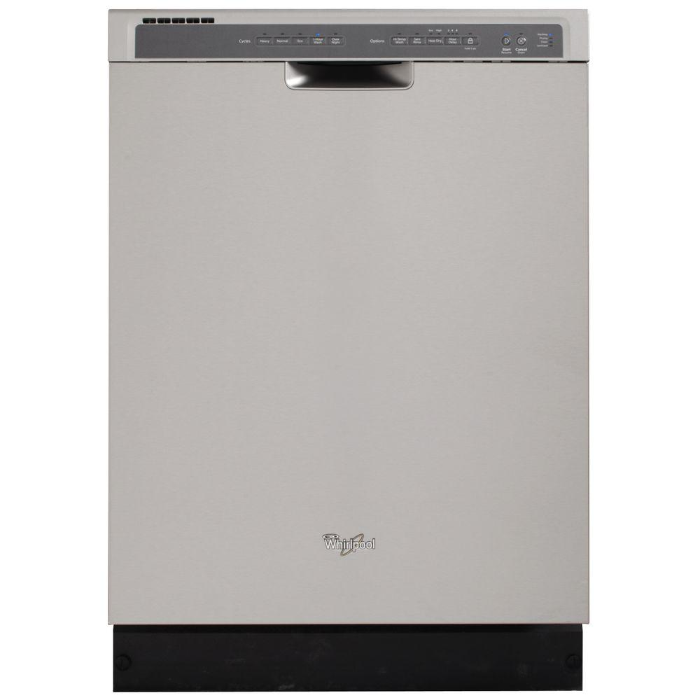 Whirlpool Front Control Dishwasher in Monochromatic Stainless Steel