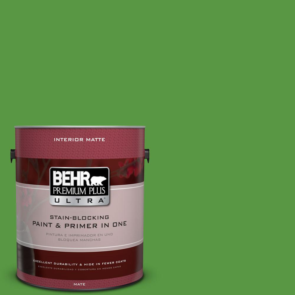 1 gal. #430B-7 Cress Green Flat/Matte Interior Paint