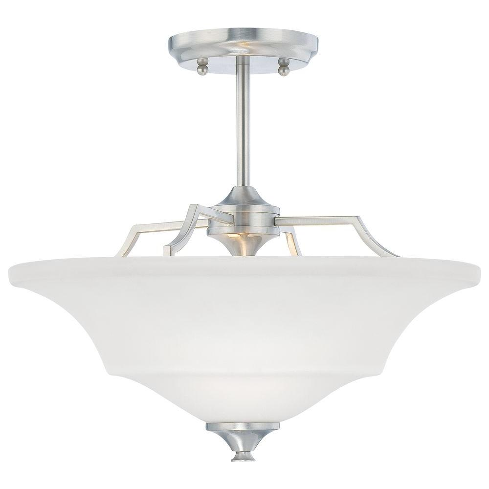 Thomas Lighting Chiave 2-Light Semi-Flush Brushed Nickel Ceiling Fixture-DISCONTINUED