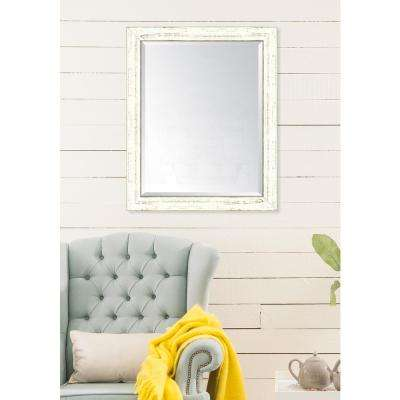 27 in. x 33 in. Framed French White Large Mirror