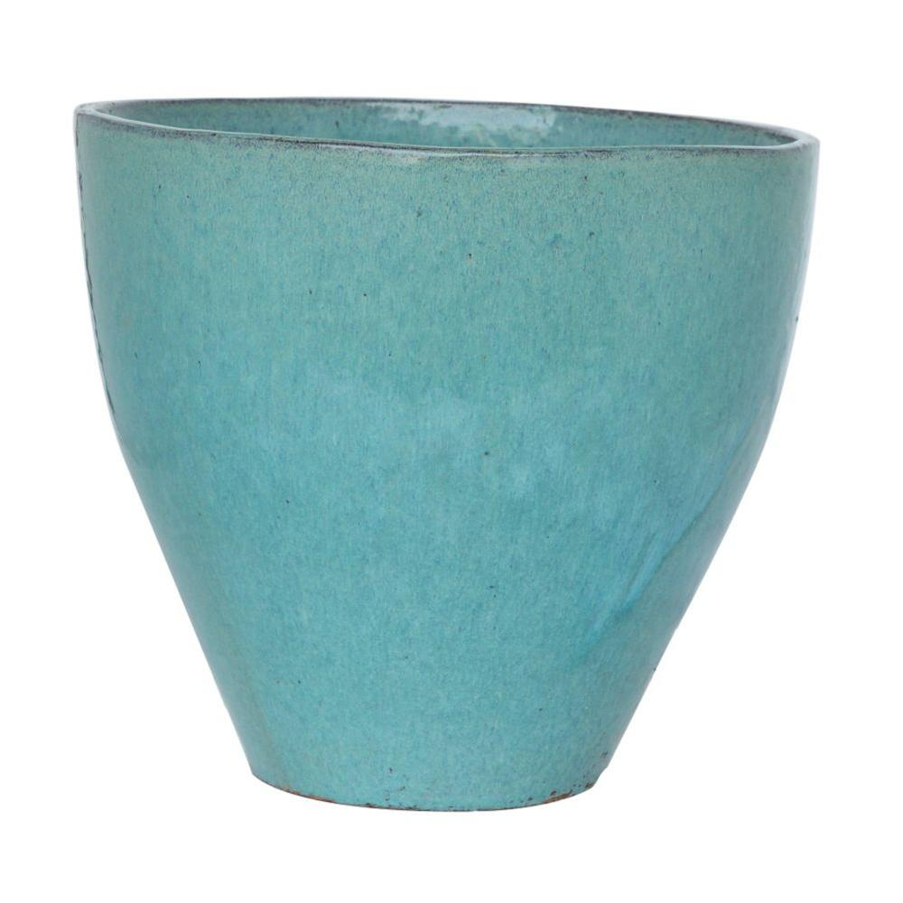 central garden and pet 145 in turquoise stoneware sandhal egg pot - Central Garden And Pet