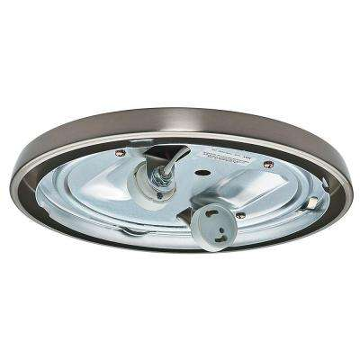 Brushed Nickel CFL Low Profile Fitter