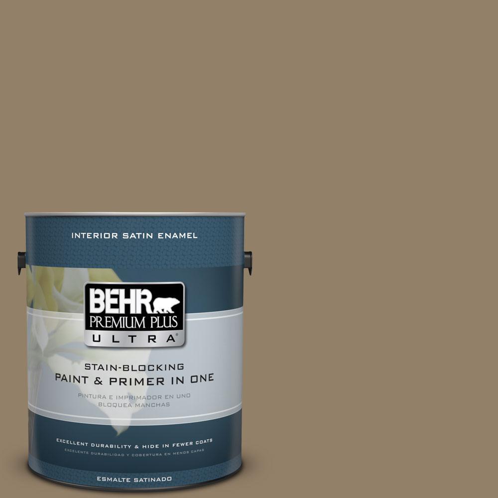 BEHR Premium Plus Ultra 1-Gal. #PPU7-3 Macchiato Satin Enamel Interior Paint