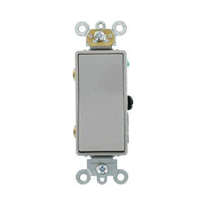 20 Amp Decora Plus Commercial Grade 3-Way Rocker Switch, Gray