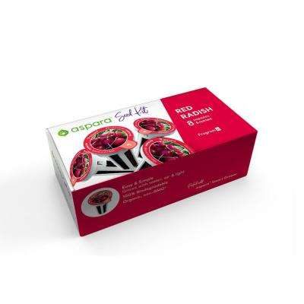 Organic Red Radish 8-Capsule Vegetable Seed Kit