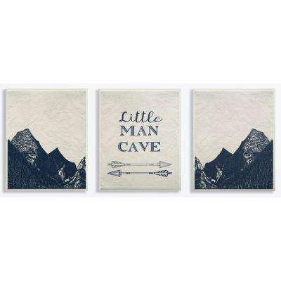"""10 in. x 15 in. """"Little Man Cave Arrows And Mountains"""" by Daphne Polselli Printed Wood Wall Art"""