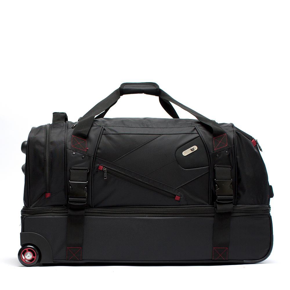 0a09403c73e Traveler's Choice 30 in. Drop Bottom Rolling Grey Duffel Bag ...