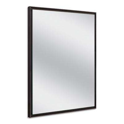24 in. W x 30 in. H Espresso Studio Float Wall Mirror