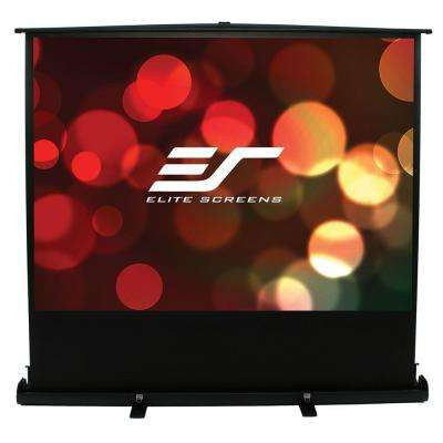 50 in. H x 67 in. W Manual Tripod Portable Projection Screen with Black Case