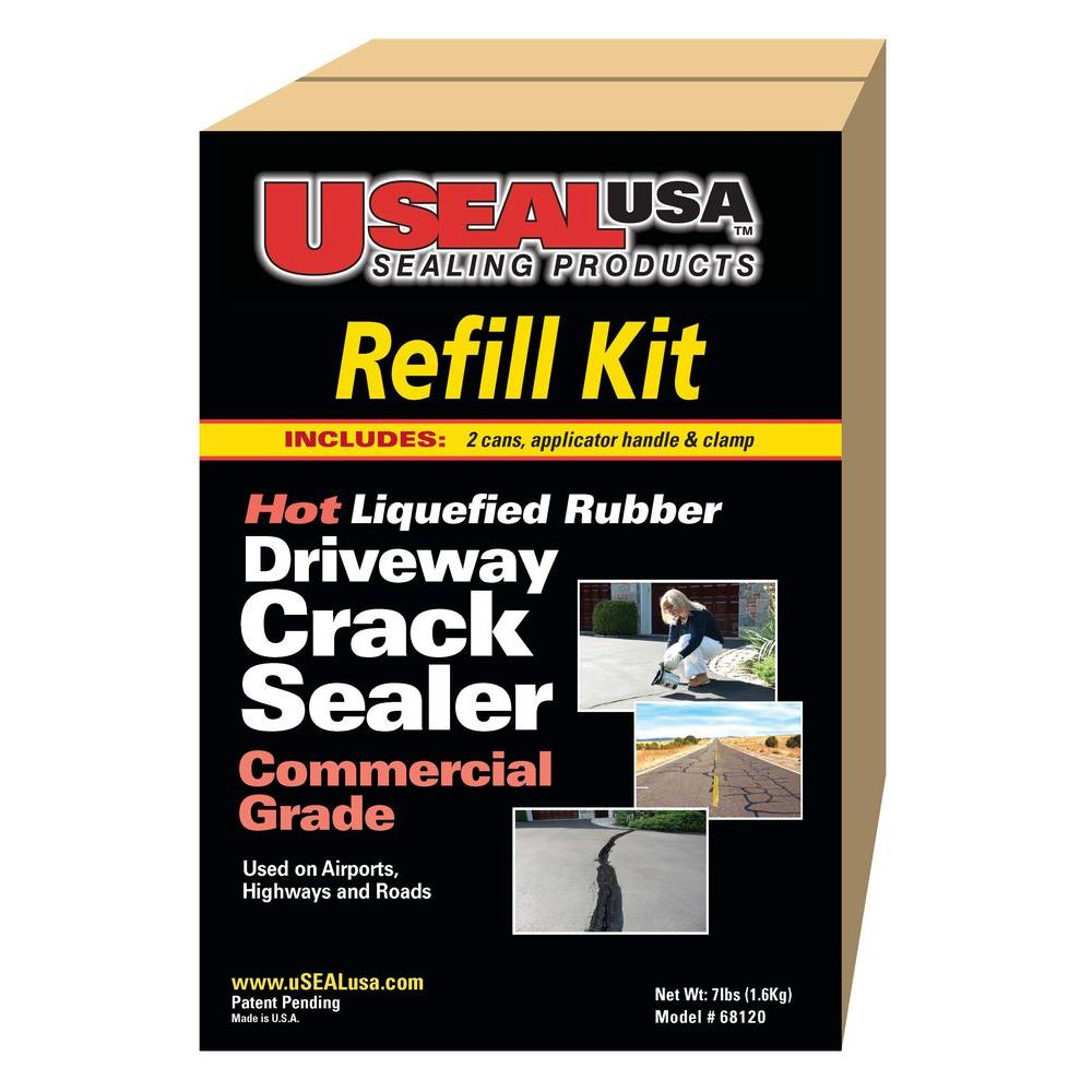 USEAL USA 7 lb. Driveway Crack Sealer and Refill Kit