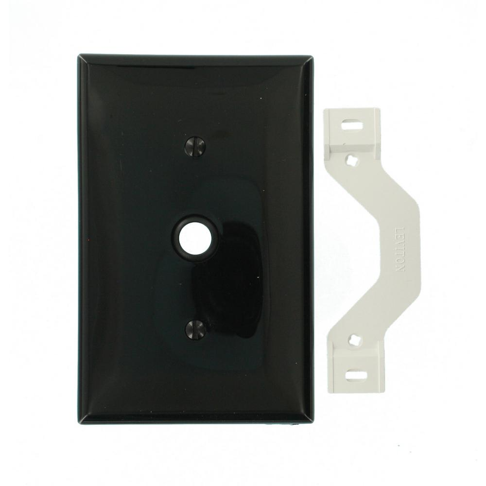 Leviton 1-Gang Midway Size One 0.406 in. Dia Phone/Cable Opening ...