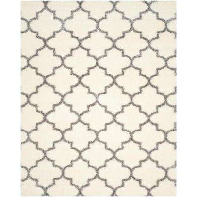 Montreal Shag Ivory/Grey 8 ft. x 10 ft. Area Rug