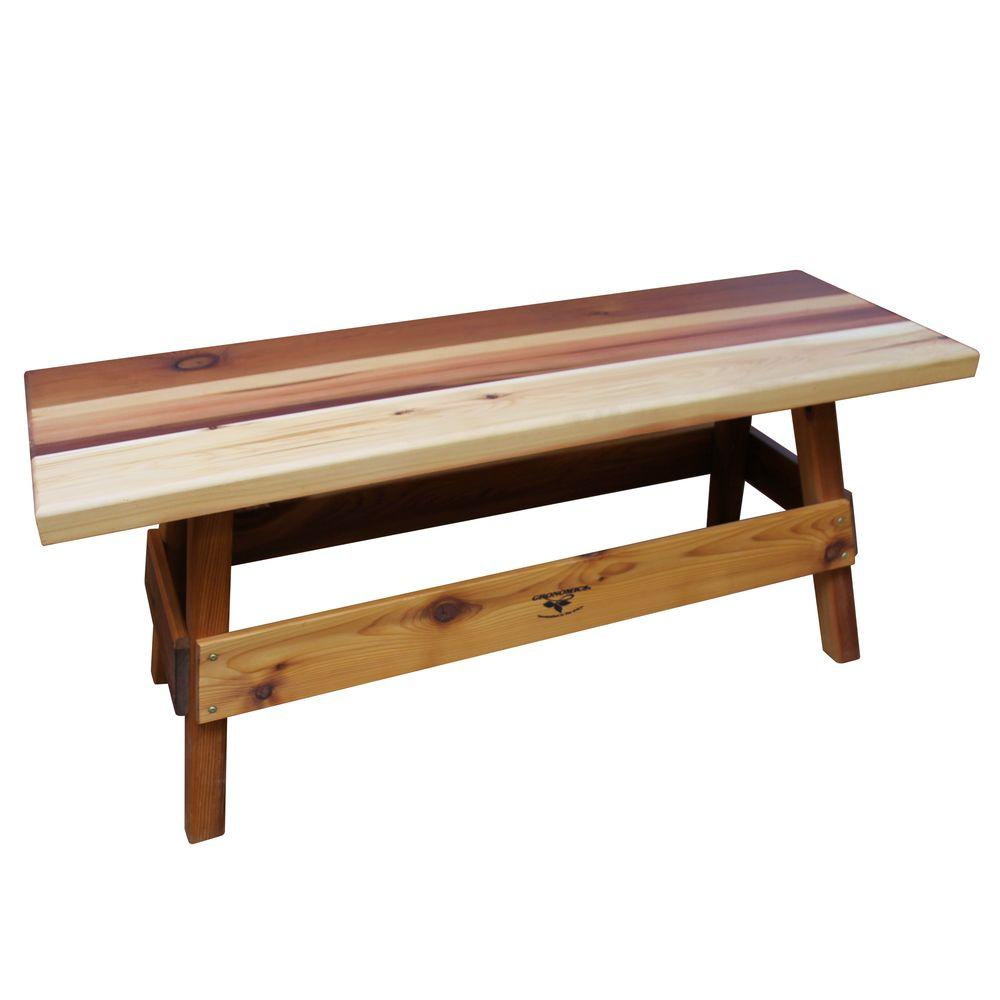 Gronomics 14 in. x 47 in. x 19 in. Wood Patio Garden Bench