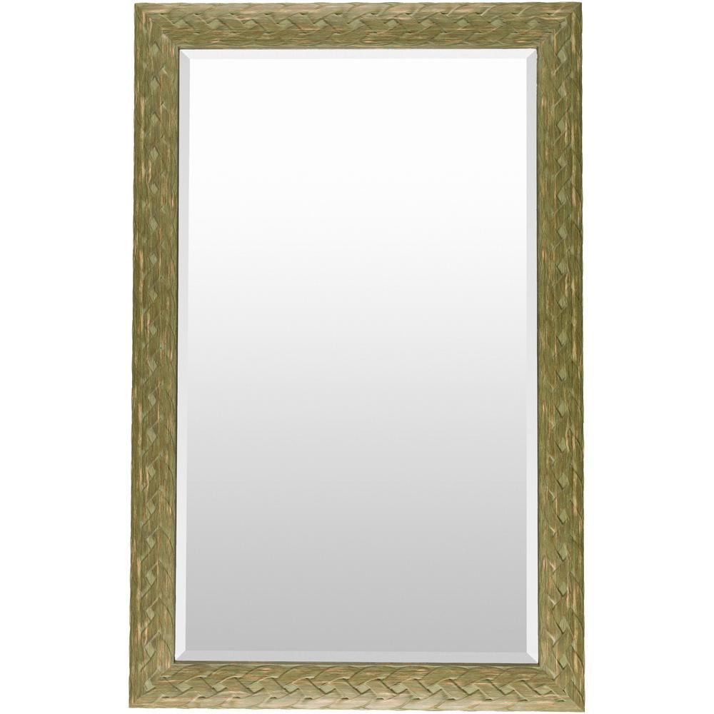 Salena 30 in. x 47 in. Polystyrene Framed Mirror