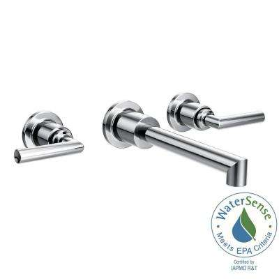 Arris Wall Mount 2-Handle Low-Arc Bathroom Faucet Trim Kit in Chrome (Valve Not Included)