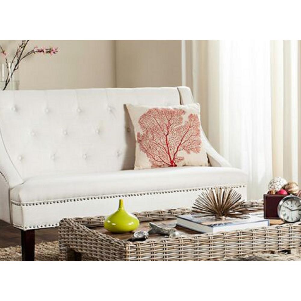 Safavieh Spice-Fan Coral Coastal Pillow (2-Pack), Beach Red
