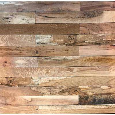 Shiplap Plank 0.5 in. H x 3.5 in. W x 1 ft. - 3 ft. L Natural Wood Wall Planks (20 sq. ft. / case)