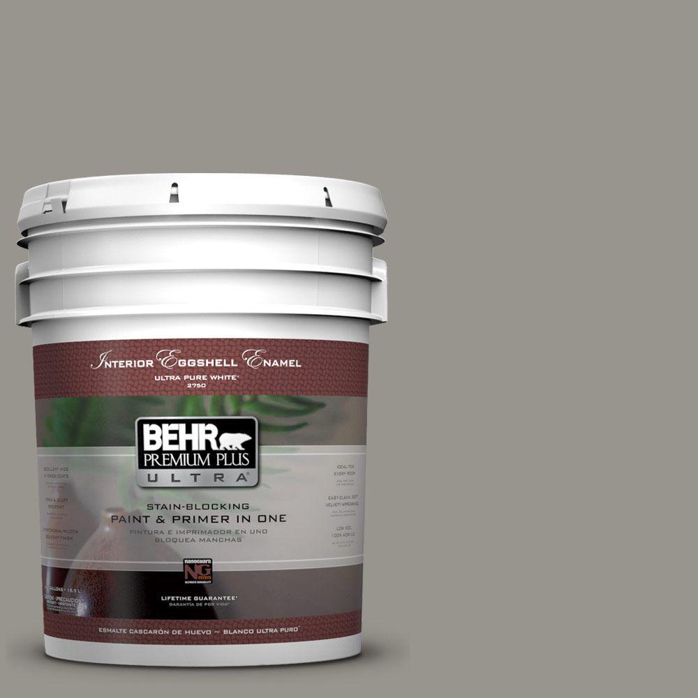 BEHR Premium Plus Ultra 5-gal. #N360-4 Battleship Gray Eggshell Enamel Interior Paint