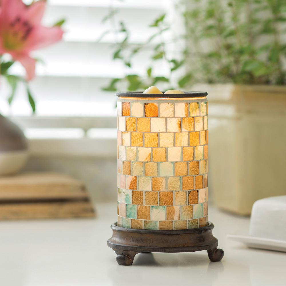 8.8 in. Sea Glass Illumination Fragrance Warmer