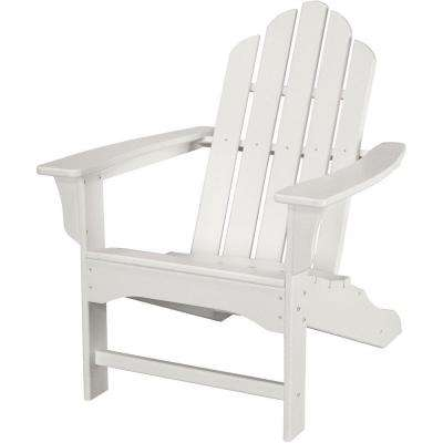 All Weather Patio Adirondack Chair In White