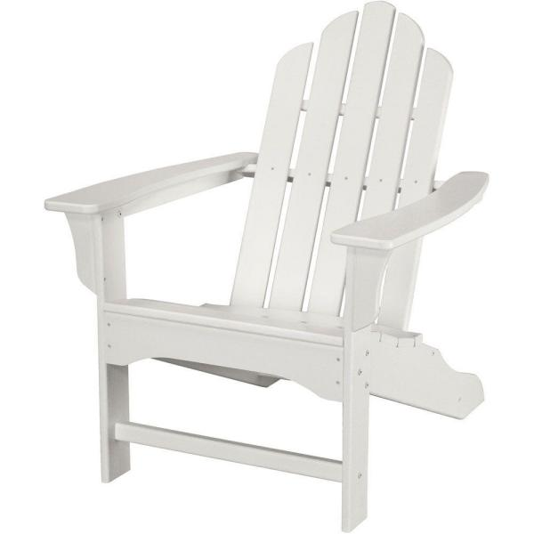 All-Weather Patio Adirondack Chair in White