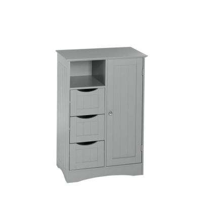 Ashland 22 in. W x 32 in. H Bathroom Linen Storage Floor Cabinet in Gray