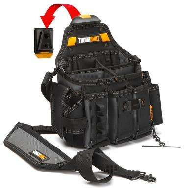 Master Electrician 12.5 in. 25-Pockets Pouch and Shoulder Strap in Black