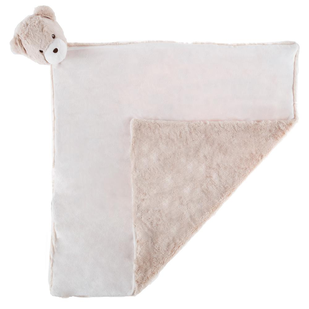 Happy Trails Plush Tan Bear Buddy Baby Blanket Hw4000017 The Home