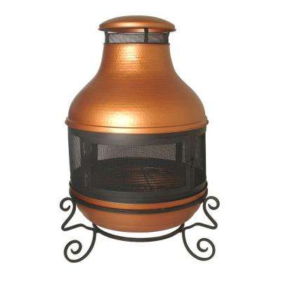 38 in. Hammered Chimenea Copper Fire Pit