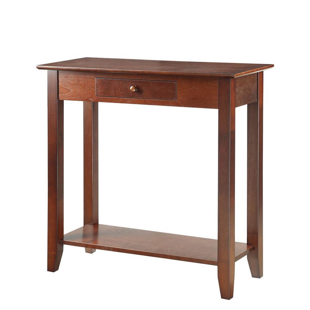 American Heritage Espresso Hall Table