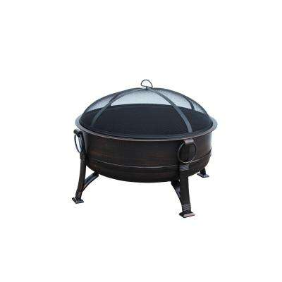 Culver 35 in. Steel Deep Bowl Fire Pit