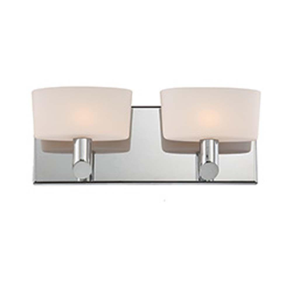 Filament Design Spectra 2-Light Chrome Bath Vanity Light