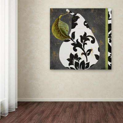 "35 in. x 35 in. ""Decorative Pear I"" by Color Bakery Printed Canvas Wall Art"