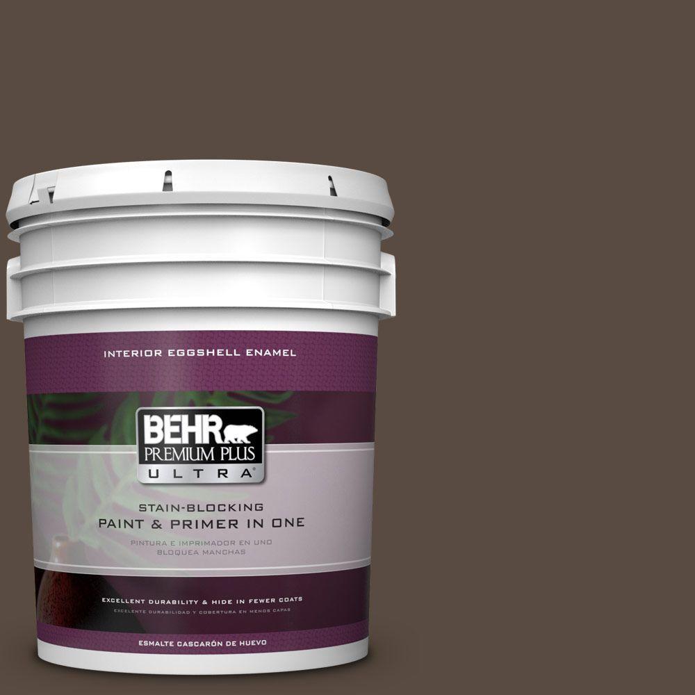 5 gal. #HDC-FL15-05 Warm Pumpernickel Eggshell Enamel Interior Paint