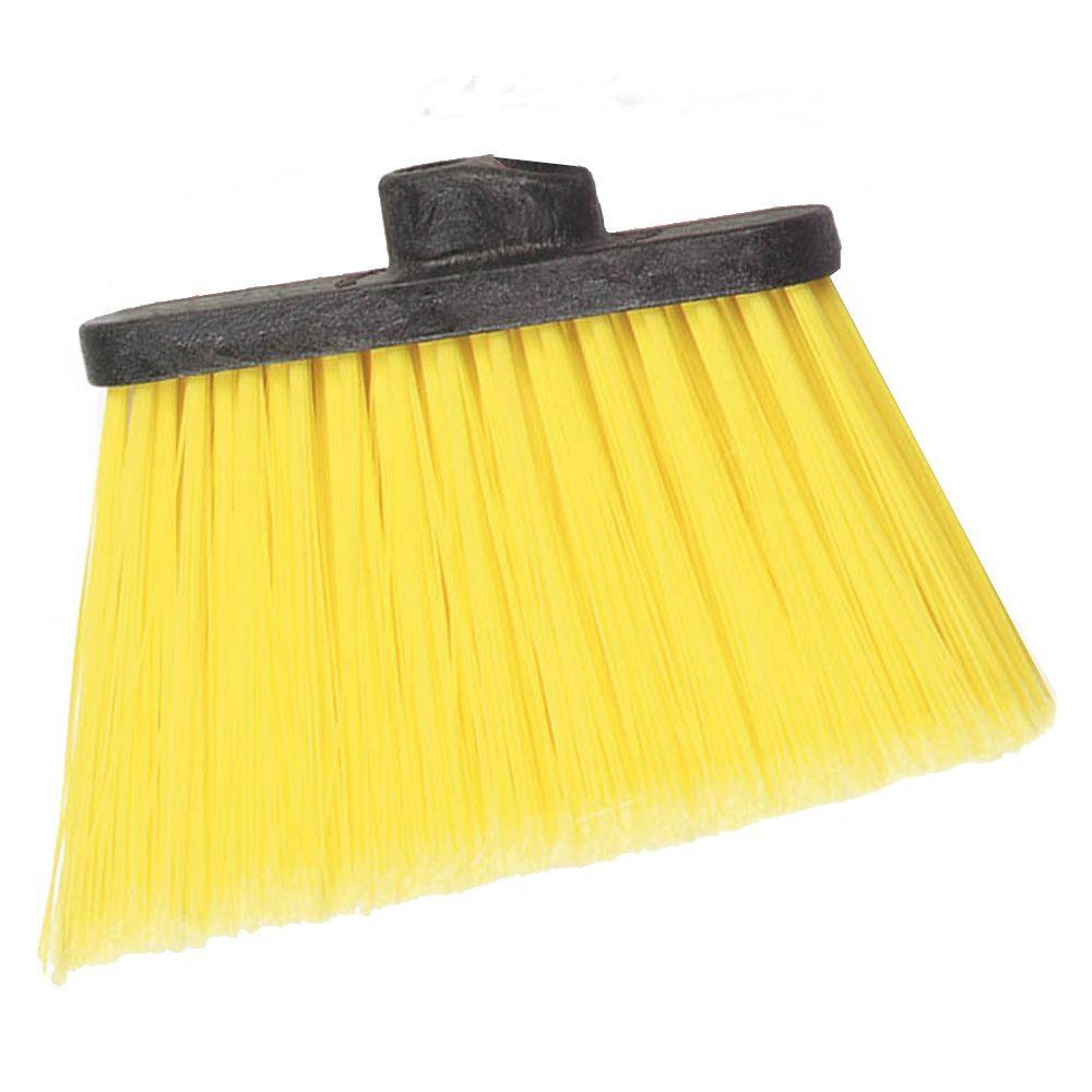 Carlisle 8 in. Flagged Angle Broom with 12 in. Flare Yellow Bristles (Handle Not Included) (Case of 12)