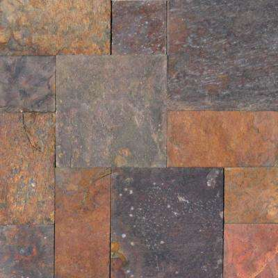 Peacock Pattern Gauged Slate Floor and Wall Tile (5 Kits / 80 sq. ft. / pallet)