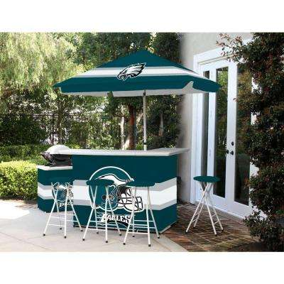 Philadelphia Eagles 6-Piece All-Weather Patio Bar Set with 6 ft. Umbrella